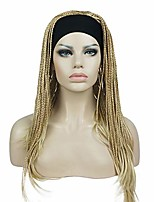 cheap -long braiding crochet hair fully hand tied twist braided with headband half wig (24bt613)