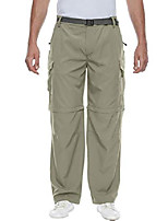 cheap -mens convertible zip-off quick dry pants with cargo pockets for outdoor hiking travel green size m