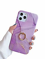 cheap -case for iphone 12 for iphone 12 pro cases 6.1 sparkle purple marble bumper built-in 360 degree rotating ring kickstand soft tpu rubber silicone case cover for women men