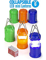 cheap -super bright mini collapsible led lantern (6 pack) (renewed)
