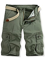 cheap -multi-pocket loose overalls cotton five knees pants medium pants outdoor cargo sportwear shorts for men