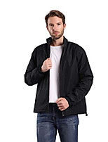 cheap -mens windbreaker jackets casual loose fit soft shell outdoor coats with fleece lining black large