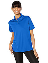 cheap -women's cool & dry mesh sport polo, royal, medium
