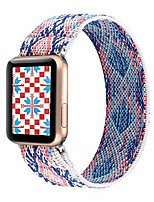 cheap -stretchy band compatible with apple watch elastic band 42mm 44mm cute pattern soft nylon strap replacement wristband for iwatch series 5/4/3/2/1 (blue white boho, 42mm/44mm large size)