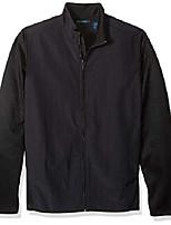 cheap -men's big lightweight stretch fleece jacket, black/dfk, 3xl tall