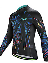 cheap -21Grams Men's Long Sleeve Cycling Jersey Jacquard Black Bike Jersey Top Mountain Bike MTB Road Bike Cycling Sweat-wicking Sports Clothing Apparel / Stretchy / Athleisure