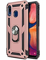 cheap -phone case for [samsung galaxy a20 (s205dl)], [ring series][rose gold] rotating metal ring cover with kickstand for galaxy a20 (tracfone, simple mobile, straight talk, total wireless)