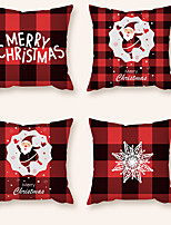 cheap -Cushion Cover 4PCS Christamas Party Decoration Christamas Gift Short Plush Soft Decorative Square Throw Pillow Cover Cushion Case Pillowcase for Sofa Bedroom 45 x 45 cm (18 x 18) Superior Quality