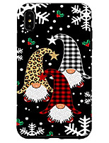 cheap -iphone xs max gnomes buffalo plaid leopard christmas tree santa xmas gifts case