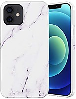cheap -case for iphone 12 pro, iphone 12 marble case pink slim protective soft flexible tpu shockproof cute fashion tpu luxury girls women marble case for iphone 12 12 pro (6.1 inches) (white)