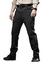 cheap -men's fleece lined breathable softshell ski tactical pants military trousers black,us 33