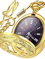 cheap -vintage pocket watch roman numerals scale quartz mens womens watch with chain christmas graduation birthday gifts fathers day