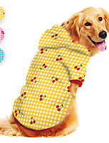 cheap -Dog Hoodie Cherry Printed Cute Casual / Daily Dog Clothes Puppy Clothes Dog Outfits Breathable Yellow Blue Pink Costume for Girl and Boy Dog Polyster S M L XL