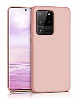 cheap -compatible with samsung galaxy s20 ultra case,soft liquid silicone case full shock absorbing slim protective [baby skin touch] with soft microfiber cloth lining cushion case –pink