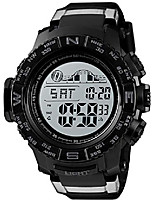 cheap -men's military digital wrist watches multi-function 50m waterproof dual time countdown alarm stopwatch sports watch (black)