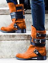cheap -Women's Boots Flat Heel Round Toe Daily PU Synthetics Yellow Orange Gray