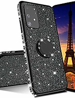 cheap -emaxeler samsung galaxy a71 case bing glitter diamond shiny luxury plating tpu 360 degree ring stand bumper silicone protective case cover for samsung galaxy a71 - black glitter kdl