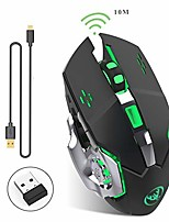 cheap -rechargeable 2.4ghz wireless gaming mouse with usb receiver,7 colors backlit for macbook, computer pc, laptop (600mah lithium battery) (black)