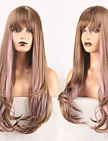 cheap -Cosplay Costume Wig Synthetic Wig Wavy Body Wave Middle Part Wig Long Blonde / Purple Synthetic Hair Women's Odor Free Fashionable Design Soft Mixed Color / Heat Resistant