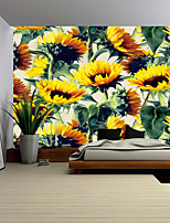 cheap -Wall Tapestry Art Decor Blanket Curtain Picnic Tablecloth Hanging Home Bedroom Living Room Dorm Decoration Polyester Yellow Flowers Beauty Views