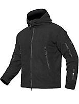 cheap -men's warm military tactical fleece hooded jacket (xx-large, black)