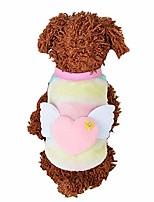 cheap -pet shirt, cute dog cat heart print clothing sweater puppy vest dog shirt pet clothes small doggie soft warm shirt coat outwear apparel (pink, m)