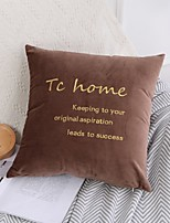 cheap -Northern Europe Light Luxury Solid Color Netherlands Velvet Letter Embroidery Series Home Office Pillow Case Cover Living Room Bedroom Sofa Cushion Cover