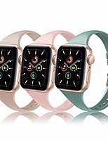 cheap -slim silicone band compatible for apple watch band 38mm 42mm 40mm 44mm, sport thin soft narrow replacement strap wristband for iwatch series 5/4/3/2/1 (cactus/milk tea/sand pink, 42mm/44mm)