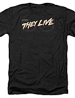 cheap -men's they live short sleeve t-shirt, glasses heather black, large