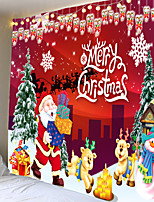 cheap -Christmas Santa Claus Holiday Party Wall Tapestry Art Deco Blanket Curtain Picnic Table Cloth Hanging at Home Bedroom Living Room Dormitory Decorating Christmas Tree Happy Elk and Santa Claus giving