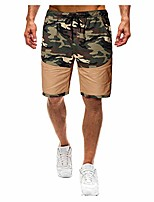 """cheap -2019 fashion camouflage drawstring cargo shorts for men trendy casual 9"""" inseam walk trunks outdoor camo pants"""