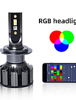 cheap -Auto Led Headlight Kits 2 in 1 HZ-RGB Smartphone App-enabled Bluetooth RGB  LED Headlight Conversion FOR H1 H3 H4 H7 H8 H9 H11 9004 9005 9006 9007 9012