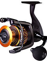 cheap -Fishing Reel Spinning Reel 5.0:1 Gear Ratio+12 Ball Bearings Sea Fishing / Bait Casting / Freshwater Fishing / Trolling & Boat Fishing / Hand Orientation Exchangable