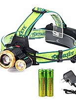 cheap -3 cree 18650 rechargeable headlamp adjustable waterproof led zoomable brightest headlamp with 2pc 18650 batteries and charger headlamps for camping running outdoor activities