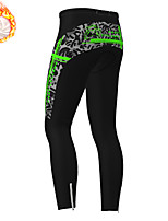 cheap -21Grams Men's Cycling Tights Cycling Pants Winter Fleece Polyester Bike Tights Padded Shorts / Chamois Pants Fleece Lining Breathable 3D Pad Sports Camo / Camouflage Yellow / Orange / Green Mountain