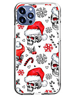 cheap -Christmas Case For Apple iPhone 12 iPhone 11 iPhone 12 Pro Max Unique Design Protective Case with Screen Protector Shockproof Back Cover TPU
