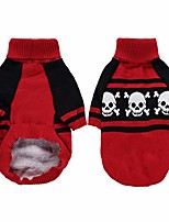 cheap -pet dog halloween fancy costume keep warm sweater skull pattern knitwear sweatshirt holiday party dress up outfits for small medium chihuahua teddy dog,size xs
