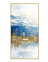 cheap -100% Hand-Painted Contemporary Art Oil Painting On Canvas Modern Paintings Home Interior Decor Abstract Art  Lake Painting Large Canvas Art(Rolled Canvas without Frame)