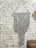 cheap -Hand Woven Macrame Wall Tapestry Bohemian Boho Art Decor Blanket Curtain Hanging Home Bedroom Living Room Decoration Nordic Handmade Tassel Cotton Gray