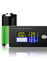 cheap -Battery display voltmeter color LCD multi function temperature