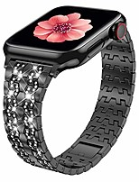 cheap -compatible with apple watch band 38mm 40mm 42mm 44mm series 6 series 5 4 3 2 1 se, bling dressy jewelry metal adjustable apple watch bands for apple watch 6/5/4/3/2/1 (glossy black, 38/40mm)