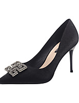 cheap -Women's Heels Stiletto Heel Pointed Toe Casual Daily Walking Shoes Satin Black Gold