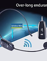cheap -New Portable Long Battery Life Wireless Microphone Voice Amplifier Microphone Speaker Teaching Travel Guide 1pc