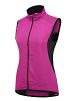 cheap -21Grams Women's Sleeveless Cycling Jersey Cycling Vest Rose Red Solid Color Bike Jersey Top Mountain Bike MTB Road Bike Cycling Waterproof Quick Dry Reflective Strips Sports Clothing Apparel