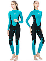 cheap -SLINX Women's Full Wetsuit 3mm Neoprene Diving Suit Thermal Warm Long Sleeve Back Zip - Swimming Diving Surfing Patchwork Spring &  Fall Winter / Stretchy