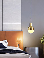 cheap -LED Globe Pendant Light Nordic Modern Gold Single Design Downlight Brass Copper Made Bulb Not Included 110-120V 220-240V