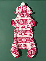 cheap -Dog Coat Snowflake Cute Christmas Winter Dog Clothes Puppy Clothes Dog Outfits Breathable Red Costume for Girl and Boy Dog Cotton S M L XL XXL