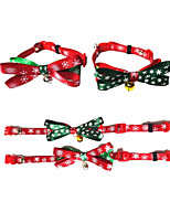 cheap -Dog Cat Collar Christmas Dog Collar Tie / Bow Tie Adjustable Flexible Outdoor Santa Claus Snowman Christmas Tree PU Leather Golden Retriever Corgi Bulldog Bichon Frise Schnauzer Poodle Red Green 1pc