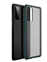 "cheap -galaxy s20 fe 5g case, hybrid tpu bumper translucent matte cover with 4 reinforced corners [wireless charging] slim fit full body protective case for samsung galaxy s20 fe 5g 6.5"" -green"