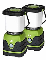 cheap -le led camping lantern, battery powered led with 1000lm, 4 light modes, waterproof, perfect lantern flashlight for hurricane emergency, hiking, home and more, pack of 2 (renewed)